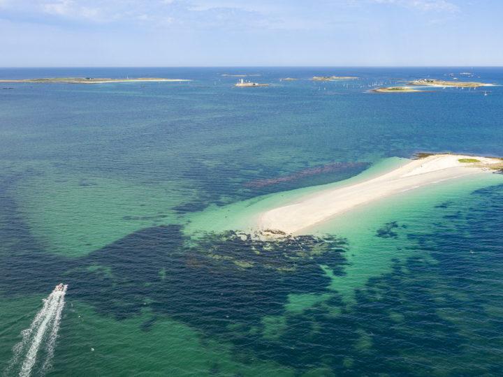 Vue aérienne de l'archipel des Glénan